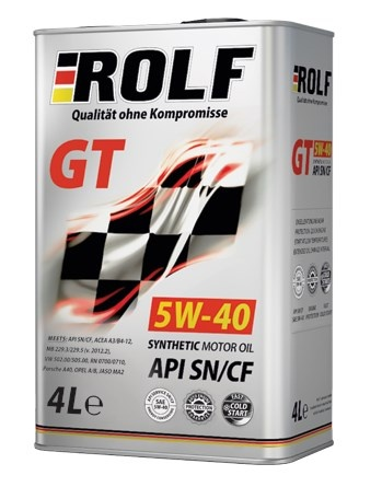 synthetic motor oil Rolf GT 5W-40 SN / CF 4l metal