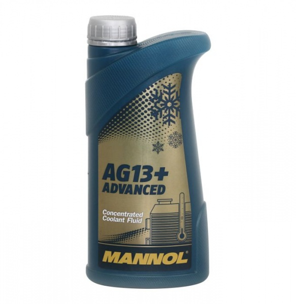 mannol AG13+ advanced antifreeze 1l yellow