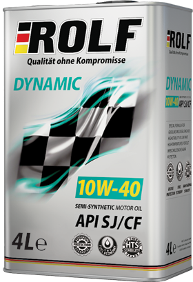 semi-synthetic motor oil Rolf Dynamic 10W-40 SJ / CF 4l