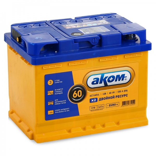 battery 60 EFB euro with extended life akom