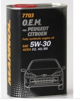 synthetic engine oil  5W-30 metal 1l