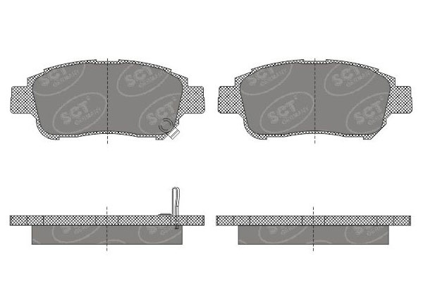 brake pad set, disc brake mannol