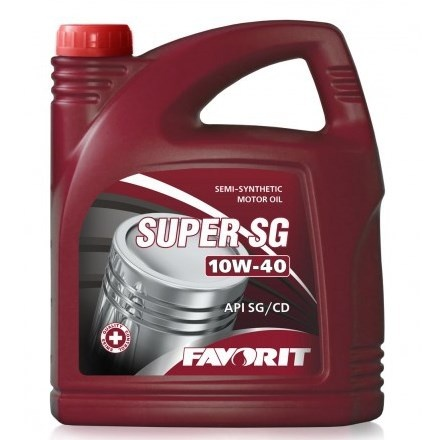 mineral motor oiL 10w-40 API SG/CD 4l FAVORIT SUPER