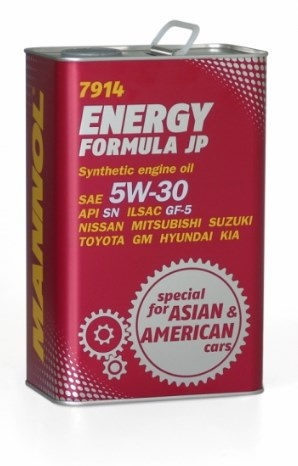 synthetic oil SN / SF JP energy formula 5W-30 1l metal mannol