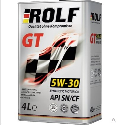 syntetic eazy -flowing motor oil Rolf GT 5W-30 SN / CF 4l