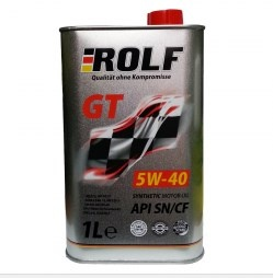 synthetic motor oil Rolf GT  5W-40 SN / CF 1l metal